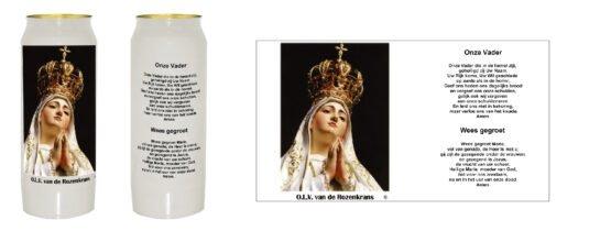 noveenkaars onze lieve vrouw van de rozenkrans of onze lieve vrouw van Fatima